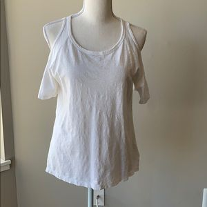 NWT Sanctuary White Open Shoulder T-Shirt